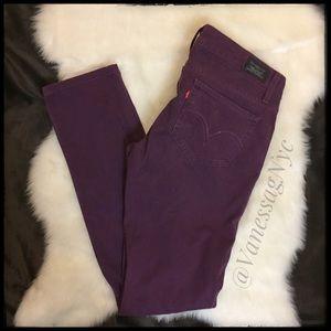 Levi's Too Superlow 524 Purple Jeans Sz 5